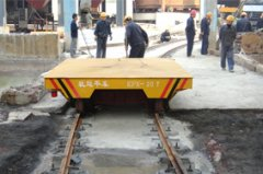 Turning rail transfer cart