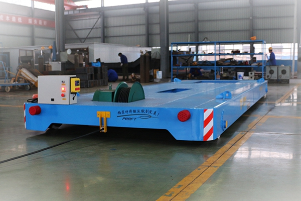 Electric transfer Carts Rail Transfer Trolley For Steel Mill