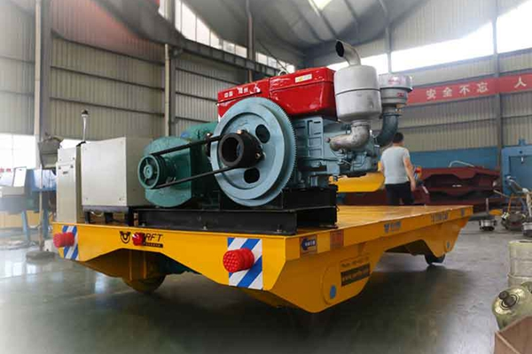 High Power Tractor Cart used in steel plate casting industry